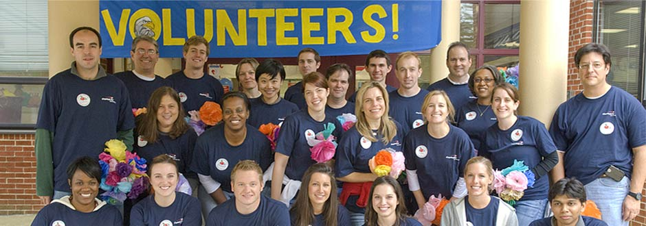 Capital One volunteers
