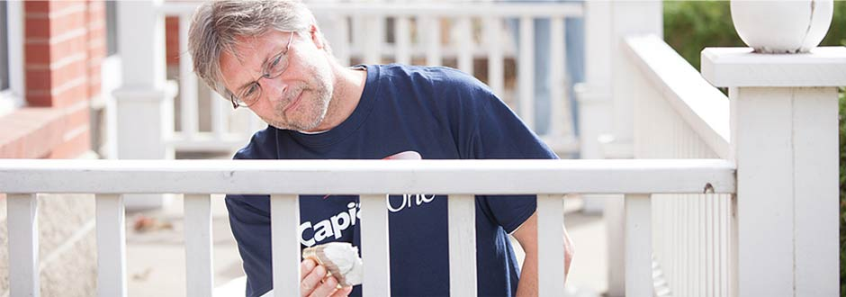 Capital One volunteer painting